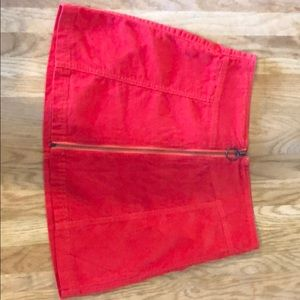 Red corduroy Forever 21 skirt